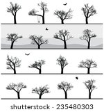 set of images of winter trees... | Shutterstock .eps vector #235480303