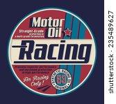motor racing typography  t... | Shutterstock .eps vector #235489627