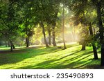 sunny warm day in the park | Shutterstock . vector #235490893