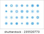 snowflake set for winter design.