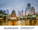 guiyang  china city skyline on... | Shutterstock . vector #235522177