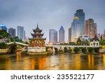 guiyang  china city skyline on... | Shutterstock . vector #235522177