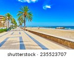 Seafront  Beach Coast In Spain...