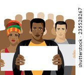 crowd of people holding signs... | Shutterstock .eps vector #235528267