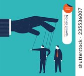 businessman puppet showing the...   Shutterstock .eps vector #235536007
