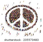 large group of people gathered... | Shutterstock . vector #235573483