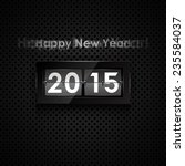 happy new year 2014 card. flip... | Shutterstock .eps vector #235584037