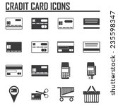 credit card icons on white...