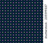 seamless pattern with hearts... | Shutterstock .eps vector #235599337