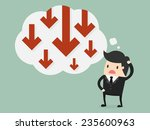 business failure. young worried ... | Shutterstock .eps vector #235600963