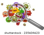 cartoon bacteria under a... | Shutterstock .eps vector #235604623