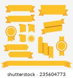 yellow ribbons set. elements... | Shutterstock . vector #235604773
