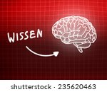 wissen brain background... | Shutterstock . vector #235620463