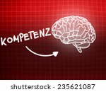 kompetenz brain background... | Shutterstock . vector #235621087
