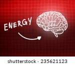 energie brain background... | Shutterstock . vector #235621123