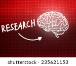 research brain background... | Shutterstock . vector #235621153