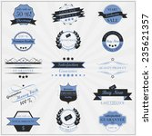 collection of vintage sales... | Shutterstock .eps vector #235621357