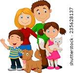 happy family | Shutterstock . vector #235628137