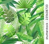 tropical leaves floral design... | Shutterstock .eps vector #235638733