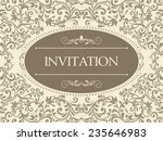 vintage card with victorian... | Shutterstock .eps vector #235646983