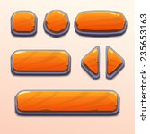 set of cartoon orange stone...