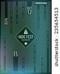 rock music poster template.... | Shutterstock .eps vector #235654513