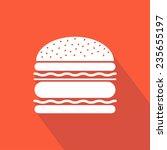 burger icon. hamburger. vector... | Shutterstock .eps vector #235655197