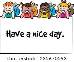 have a nice day | Shutterstock .eps vector #235670593