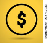 dollar sign on yellow... | Shutterstock .eps vector #235712233