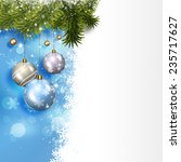 winter holiday balls blue... | Shutterstock . vector #235717627