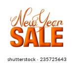 new year sale 3d text design in ... | Shutterstock . vector #235725643