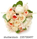 white wedding bouquet with... | Shutterstock . vector #235730497