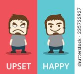 before and after  unhappy man... | Shutterstock .eps vector #235732927