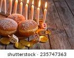 Jewish Holiday Hannukah Symbol...