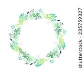 Watercolor Floral Wreath....