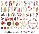 collection of vintage merry... | Shutterstock .eps vector #235773547