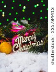 christmas composition and... | Shutterstock . vector #235784413