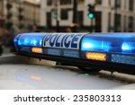 police in paris. france | Shutterstock . vector #235803313