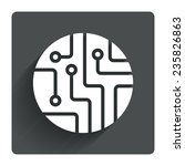 circuit board sign icon.... | Shutterstock .eps vector #235826863