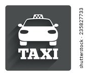 taxi car sign icon. public...