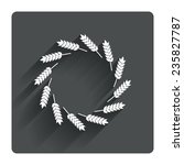 agricultural sign icon. wreath...