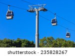 A Ropeway On A Background Of...