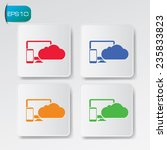 cloud computing icons on...