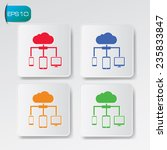 cloud computing icons on...