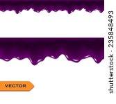 blueberry jam drips. seamless... | Shutterstock .eps vector #235848493