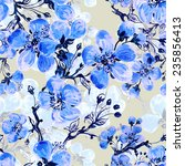 seamless pattern of spring... | Shutterstock . vector #235856413