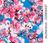 seamless pattern of spring... | Shutterstock . vector #235856437
