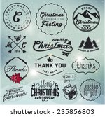 christmas greeting card badges... | Shutterstock .eps vector #235856803