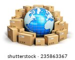 global logistics  shipping and... | Shutterstock . vector #235863367