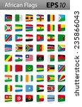 african flags | Shutterstock .eps vector #235866043